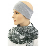EXTRA WIDE COTTON GREY HEADBAND