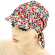COTTON VISOR HEAD WRAP ARTISTIC DOTS