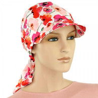 SUMMER VISOR HEAD WRAP COTTON BRIMMED CAP