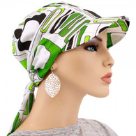 COTTON GREEN NEON CITRON VISOR HEAD WRAP
