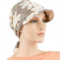 COTTON VISOR HEAD WRAP BIG DAISES