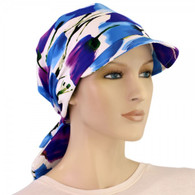 COTTON VISOR HEAD WRAP TULIPS COTTON BRIMMED CAP