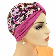 TWO TONE ITALIAN FASHION TURBAN VIBRANT COLORS