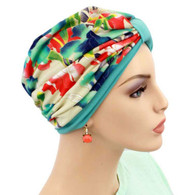 TWO TONE TURBAN HAT - FIELDS OF ITALY