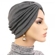 CHARCOAL TURBAN HAT