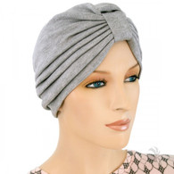 SWEATSHIRT GREY TURBAN HAT