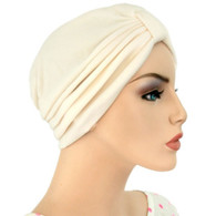 IVORY TURBAN HAT FOR WOMAN