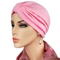 PINK TURBAN HAT