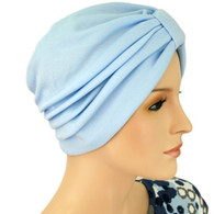 LIGHT BLUE TURBAN HAT