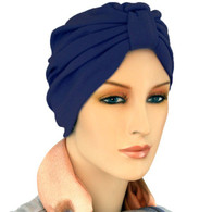 NAVY TURBAN HAT