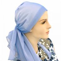BLUE CALYPSO HEADSCARF PRE TIED