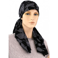 100% COTTON PRE-TIED EMBROIDERY PRINT CALYPSO HEADSCARF