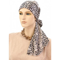 COTTON LINED CALYPSO HEADSCARF ANIMAL PRINT PRE-TIED SCARF