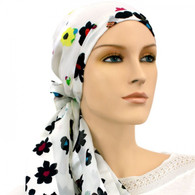 100 % SILK FLORAL MELODY EXCLUSIVE CALYPSO HEADSCARF