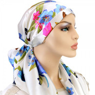 DAISIES 100 % SILK EXCLUSIVE CALYPSO HEADSCARF