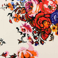SILK CHARMEUSE HEADSCARF - EXCLUSIVE CALYPSO - SUMMER FLOWERS