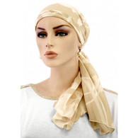 IVORY FLOWERS EXCLUSIVE CALYPSO HEADSCARF