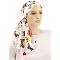 100 % SILK EXCLUSIVE CALYPSO HEADSCARF BUTTERFLIES