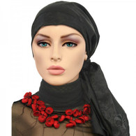 BLACK JACQUARD CALYPSO EXCLUSIVE HEADSCARF