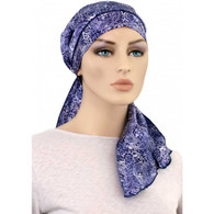 100 % SILK EXCLUSIVE CALYPSO HEADSCARF BLUE PAISLEY