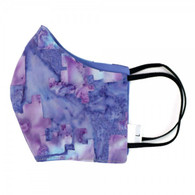 TIE-DYE BLUE FACE MASK 3 LAYERS COTTON FACE MASK - ADULT LARGE