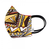 WASHABLE - REUSABLE - COTTON FACE MASK - RED YELLOW MEDIUM