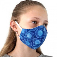 KIDS COTTON FACE PROTECTION MASK -BLUE NAVY SPOTS- SMALL
