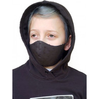 KIDS COTTON FACE PROTECTION MASK - BLACK SPOTS- SMALL