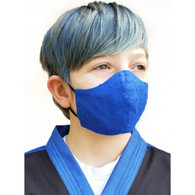 KIDS COTTON FACE PROTECTION MASK - BLUE - SMALL