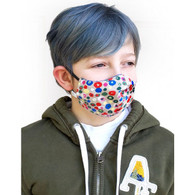 KIDS COTTON FACE PROTECTION MASK - BLUE SPOTS - SMALL