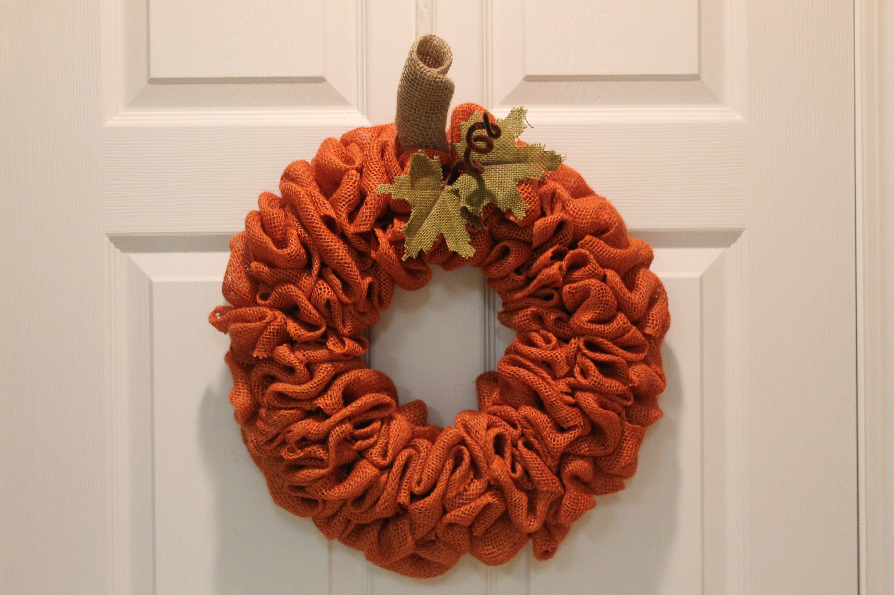 Diy Burlap Pumpkin Fall Wreath The Wreath Depot