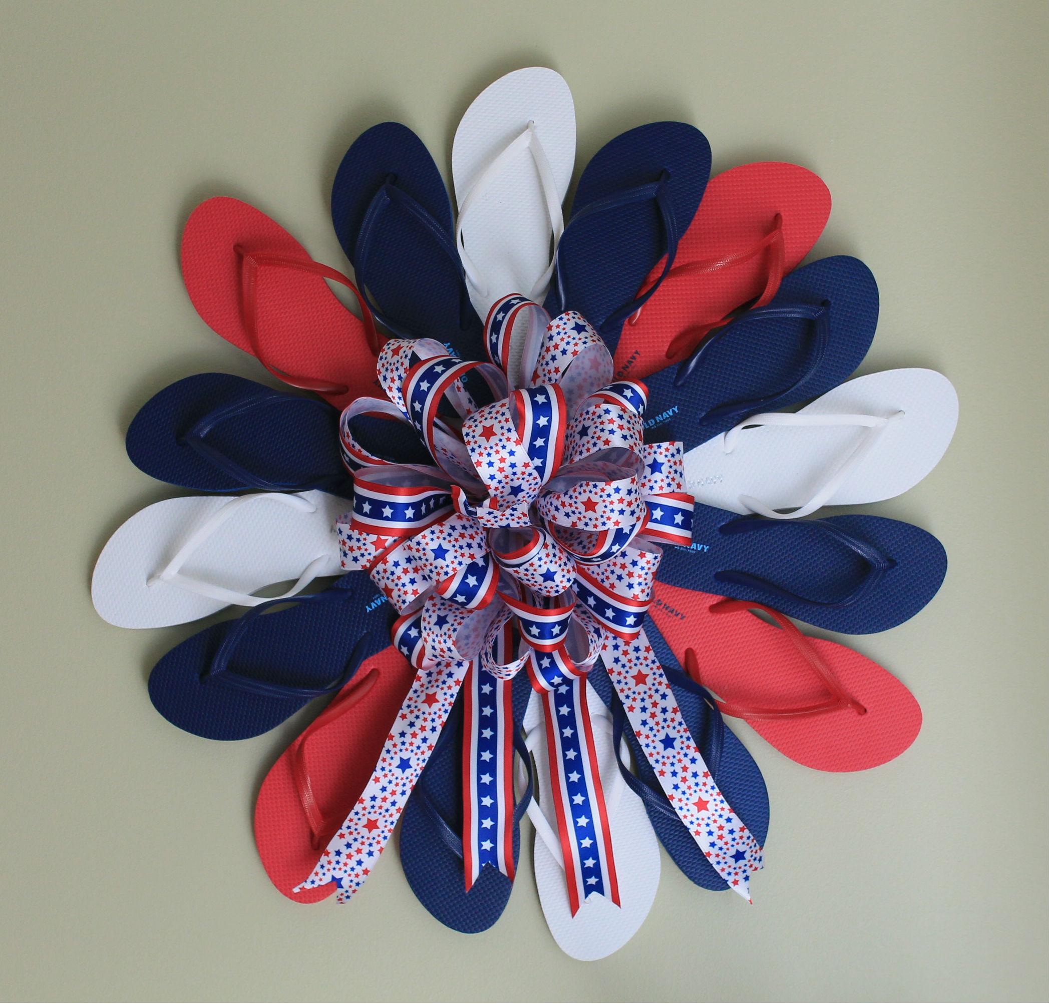 Diy Quot Flip Flop Fourth Quot Patriotic Wreath The Wreath Depot