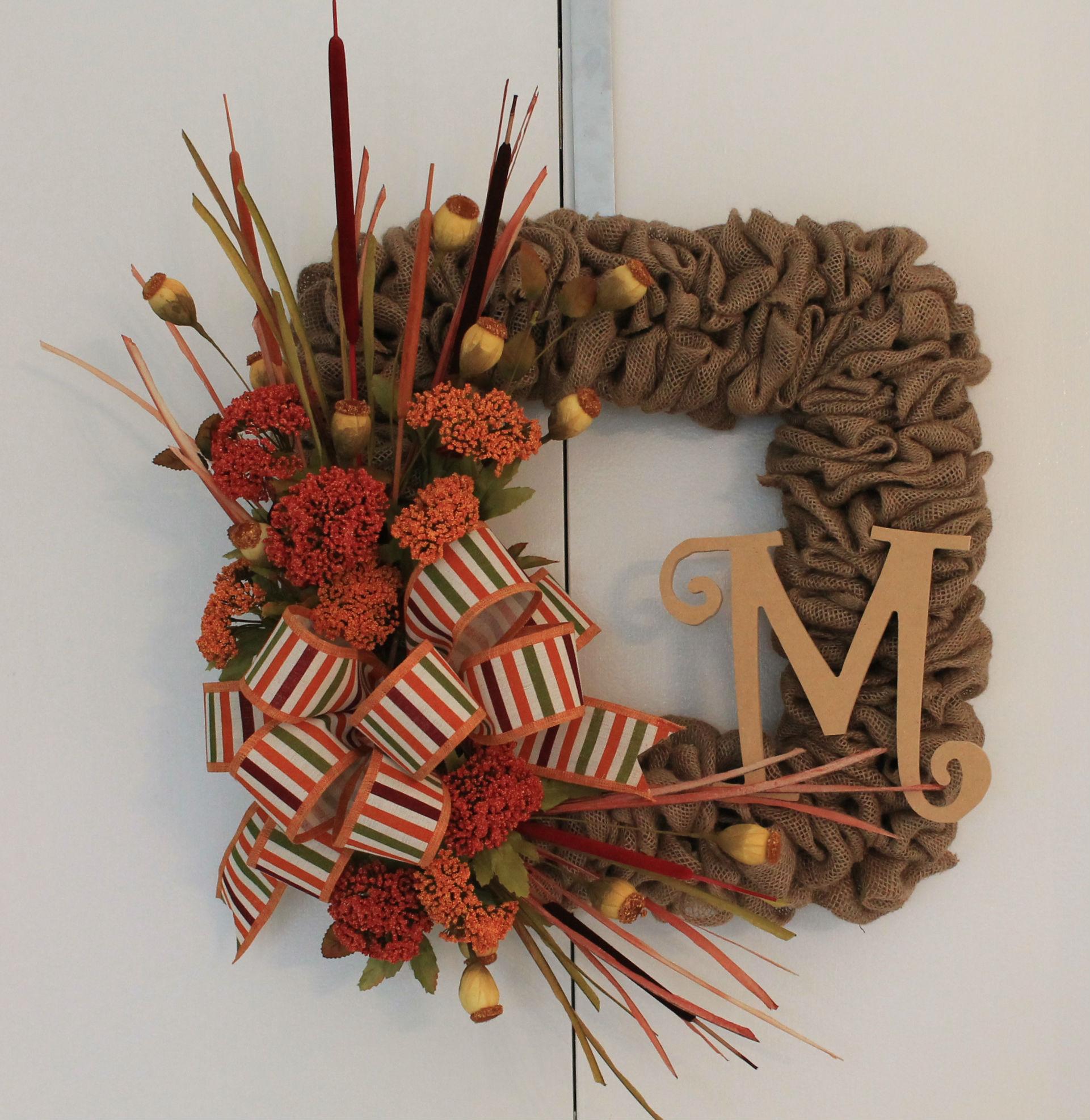 Diy Fall Burlap Wreath The Wreath Depot