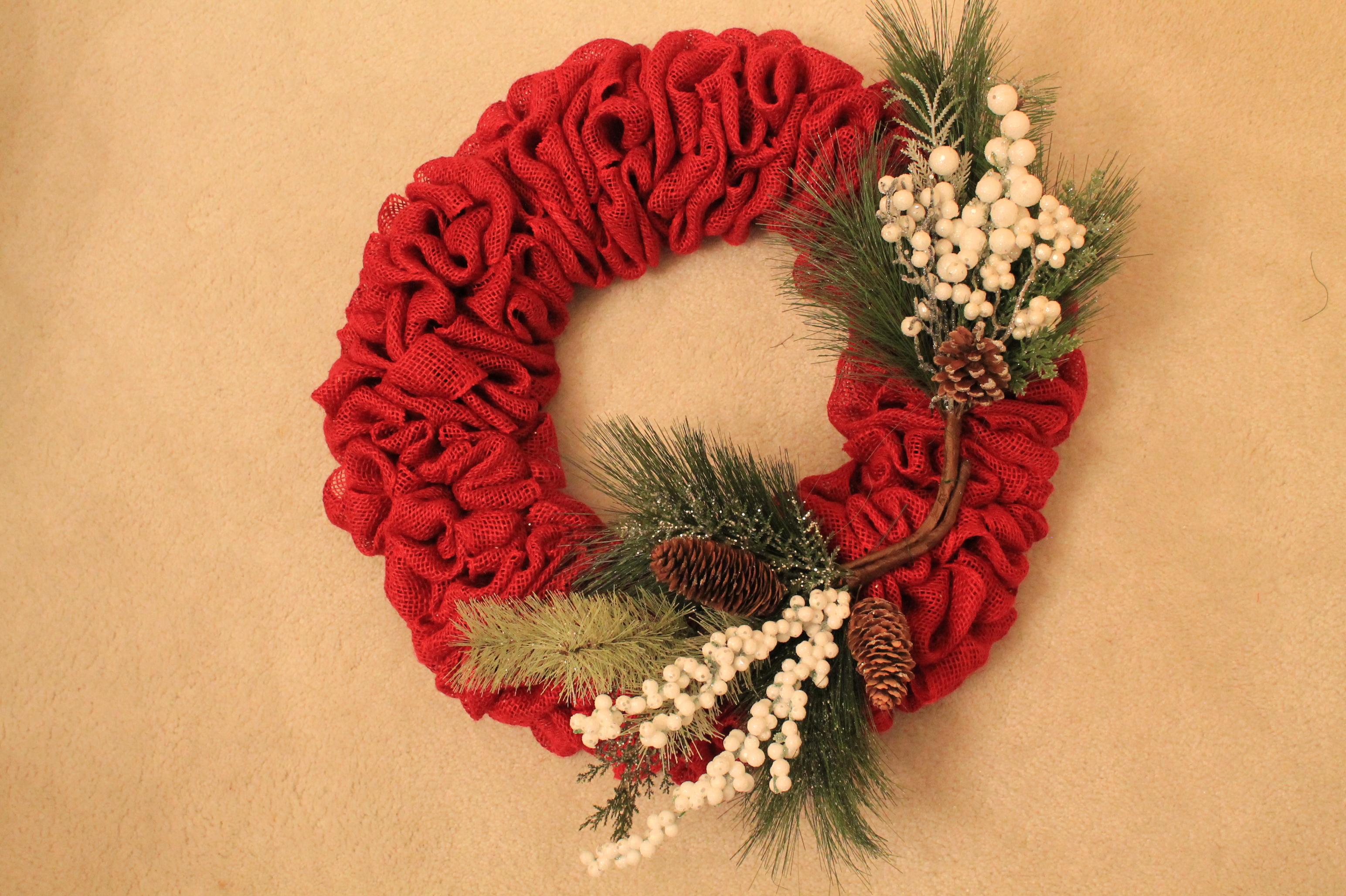 Diy Burlap Quot Snow Owl Quot Wreath The Wreath Depot