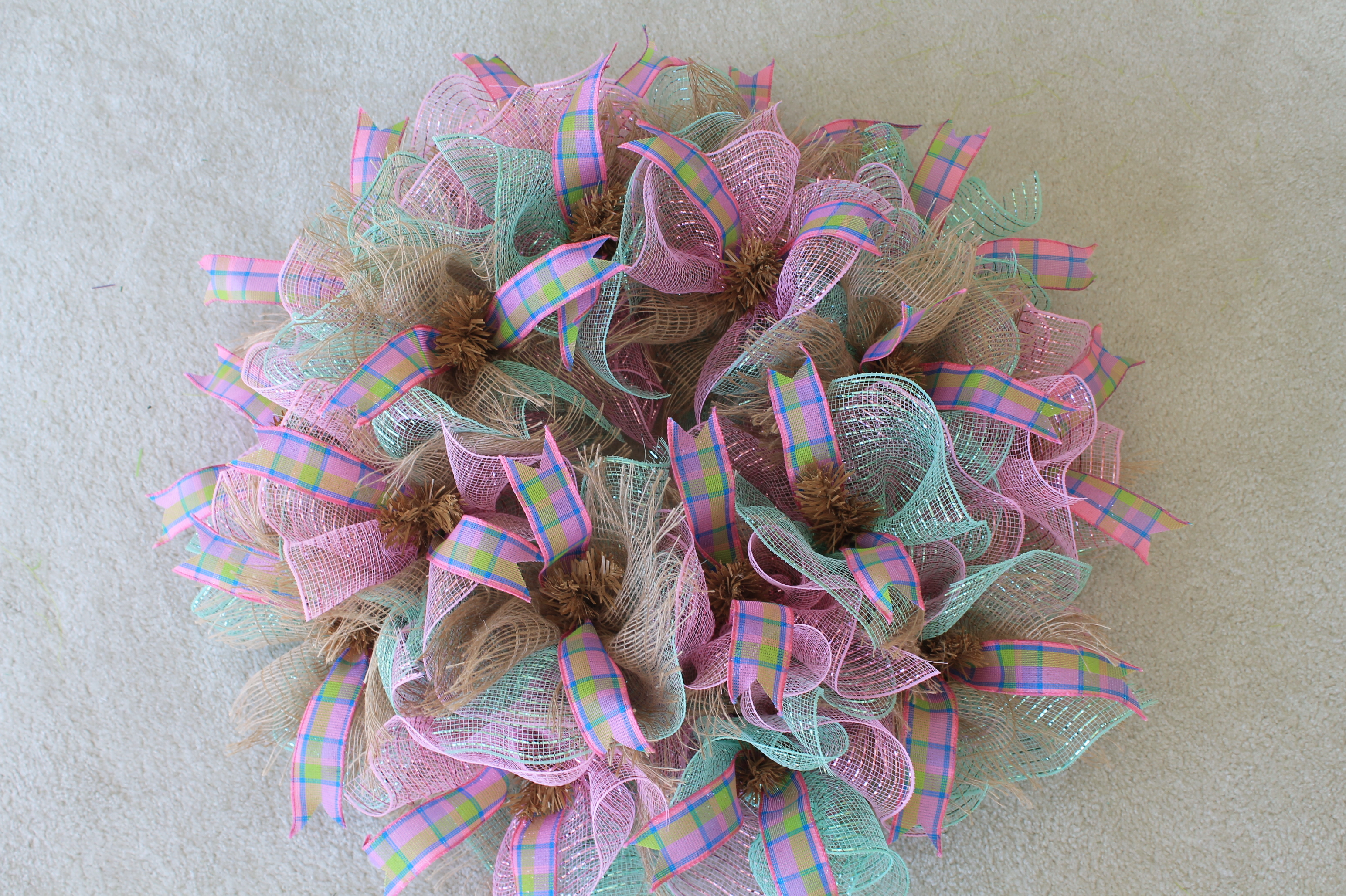 Diy Quot Welcome Quot Easter Bunny Mesh Wreath The Wreath Depot