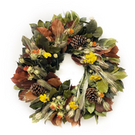 Autumn Gold Wreath - 22 in.