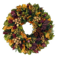 Autumn Rose Floral Wreath 18 in