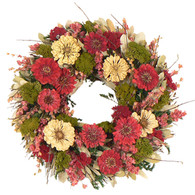 Aunties Zinnea Bed Wreath - 16 in