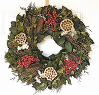 Christmas Berry Wreath 22-24 in
