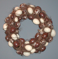 Chocolate Egg Wreath - 16 inch