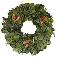 Chateau Holiday Dried Christmas Wreath 22 inch