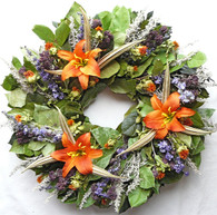 Cheswick Lilly Floral Wreath 22 in