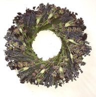 Lavender Medley Dried Flower Wreath 22 inch