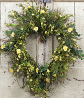 Elizabeth Heart Door Wreath - 18 inch