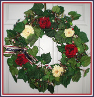 American Tribute Patriotic Wreath - 24 in