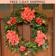 Genesee Silk Front Door Wreath - 24 inch