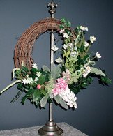 Grandmas Garden Bed Silk Wreath - 16 in