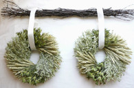 Great Plains Wreath - Double Set 15 inch with Birch Hanger