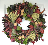 Harvest Season Fall Wreath - 22 inch