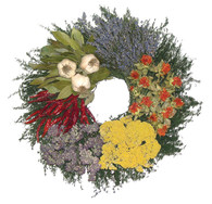 Herb Patchwork Wreath 16 in